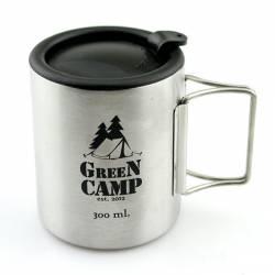Термокружка GreenCamp, 2 ручки, крышка, 300мл