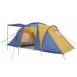 Палатка кемпинговая 4-х мест 2-х комн с тентом и тамбуром FAMILY SY-100804