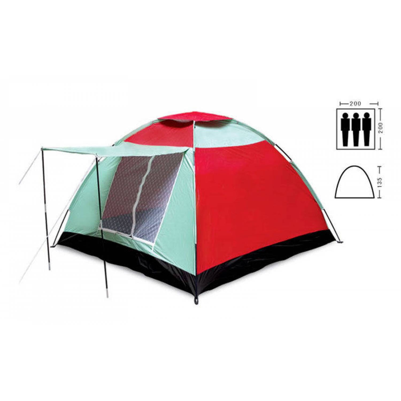 Палатка универсальная 3-х местная с тамбуром SY-019