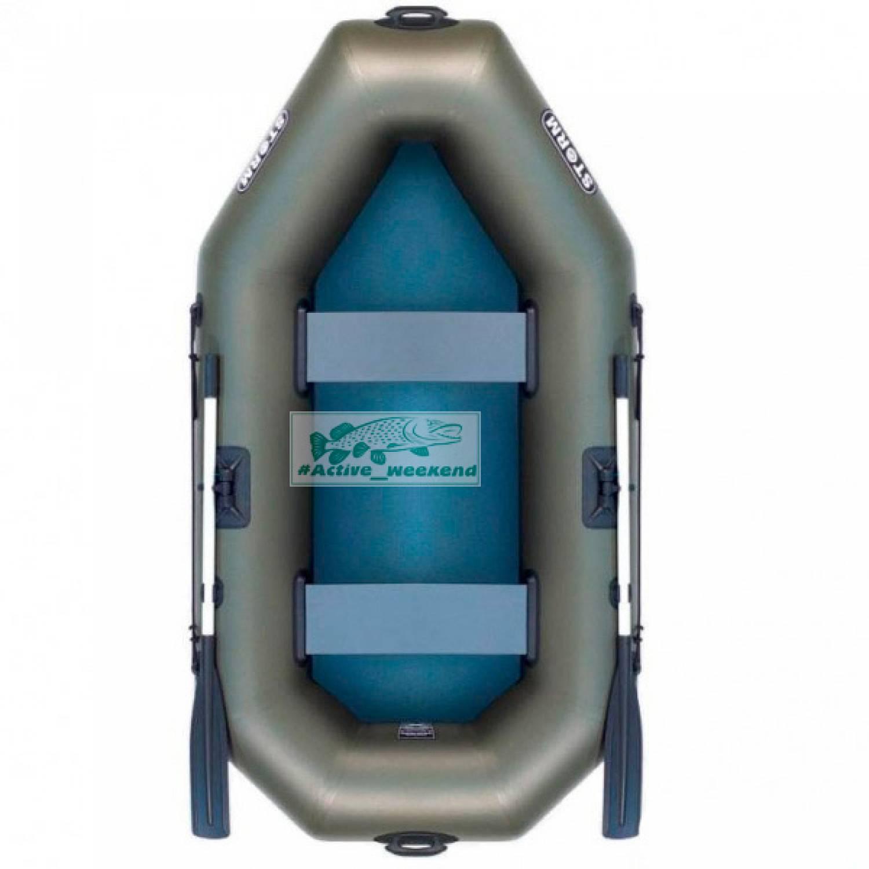 Двухместная гребная надувная лодка STORM St240