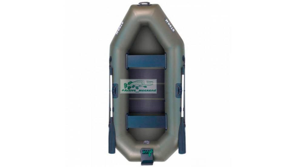 Двухместная гребная надувная лодка  STORM St260t