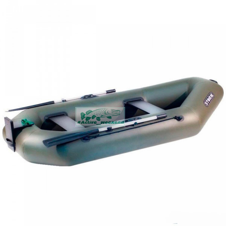 Двухместная гребная надувная лодка  STORM St280t