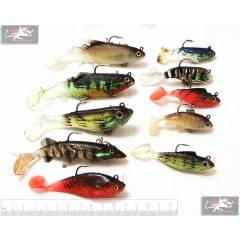Набор силиконовых Рыбок с крючком  Legend Fishing gear 10 шт.