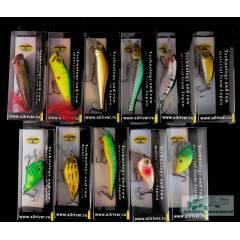 Набор оригинальных воблеров King Fisher 10 шт.  для ловли на мелководье