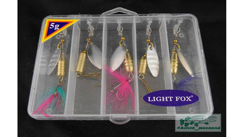 "Набор блёсен ""вертушек""  Light Fox в коробке 5 шт. - 5 грам"