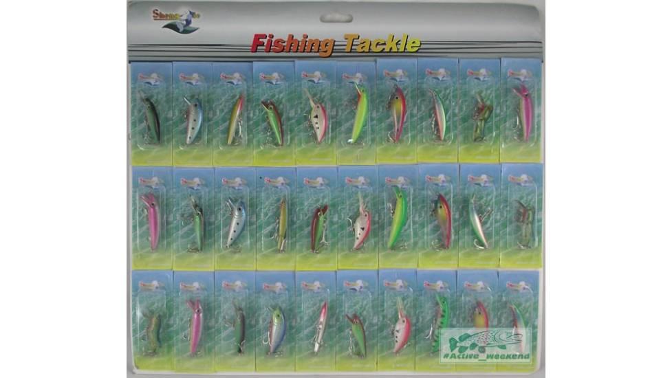 Планшет уловистых воблеров 30 шт. Fishing Tackle