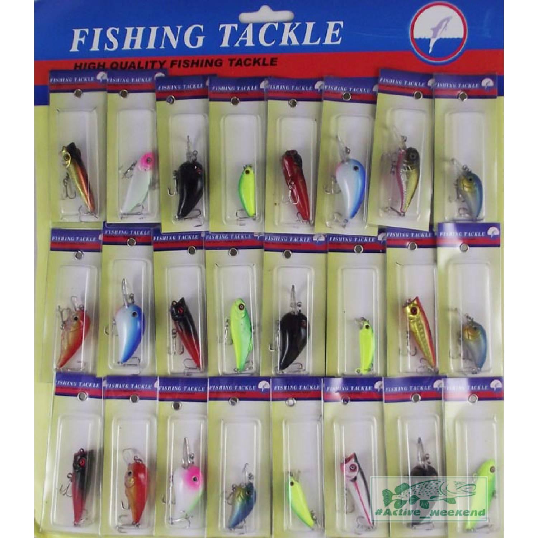 Планшет уловистых воблеров 24 шт. Fishing Tackle_1