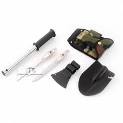 Набор туристический 4*1: лопата, топор, пила, нож